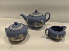 Set 3 Wedgwood England Miniature Doll Tea Set