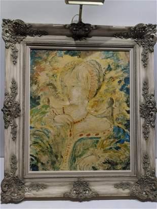 Mario Casini Portrait of Woman Oil Painting