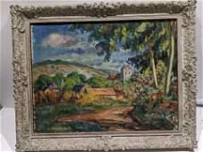 Jean-Baptiste Armand Guillaumin Village Landscape Oil