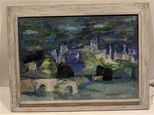 Suzanne Martyl Winchester Night Oil Painting