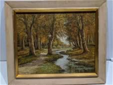 Signed Ruppecht Forest Scene Oil Painting