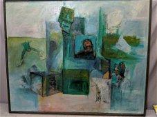 1941 Kurt Schwitters Dadaism Original Collage Painting