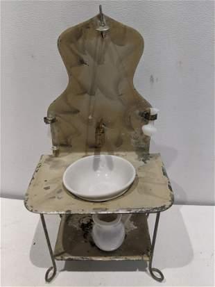 Antique Marklin Germany Miniature Bathroom Sink