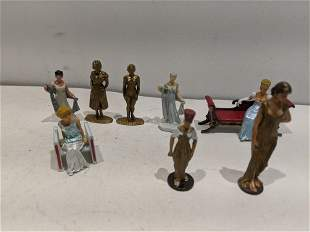 Group 8 Metal & Plastic Female Miniature Figures