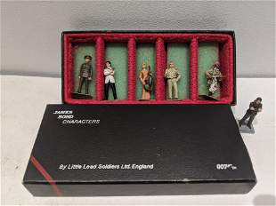 James Bond Living Daylights Little Lead Soldiers in Box