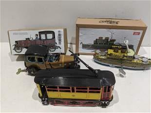 Lot 3 Payal Tin Litho Wind-up Toys w/ Boxes
