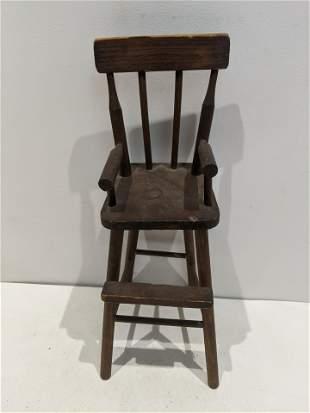 1830's Handmade Wood Kentucky Doll High Chair