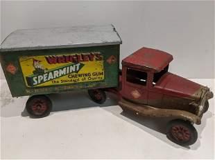 1930's Buddy L Wrigley's Gum Semi Truck & Trailer