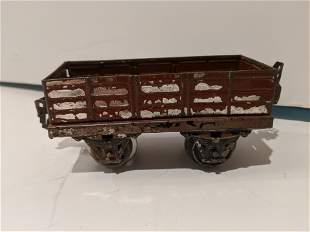 1920-30s Marklin German 0 Gauge Painted Tin Gondola Car