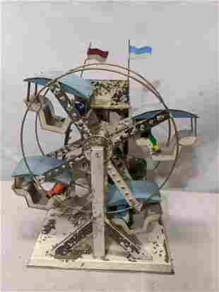 c1900 German Tin Wind Up Ferris Wheel Bing or Doll Co