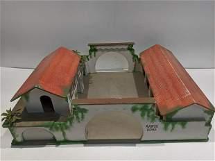c1950's Binnis Baker Spanish Wood Doll Farm