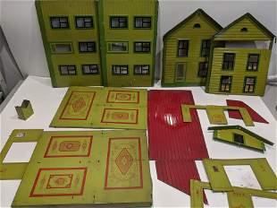 c1930's German Tin Litho Dollhouse