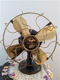 Antique Brass Blade Western Electric Hawthorne Fan