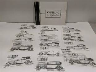1930's Cadillac 16 Cylinders Brochure w/ Info Sheets