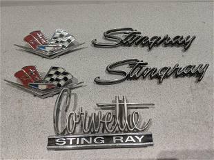 Set 5 1960's Corvette Stingray Emblems