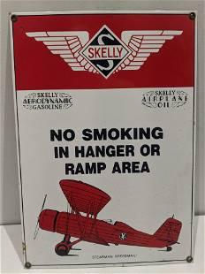Skelly Airplane Oil Gasoline Porcelain Sign