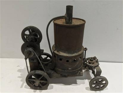 Antique Self Propelled Steam Engine Carriage