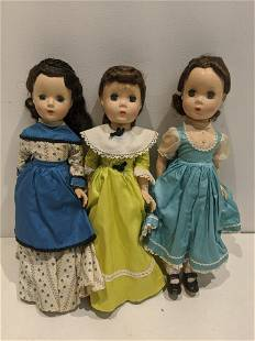 Lot 3 Madame Alexander Dolls Beth Marme Joe