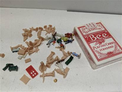 Lot Vintage Tiny Miniature Dollhouse People & Parts
