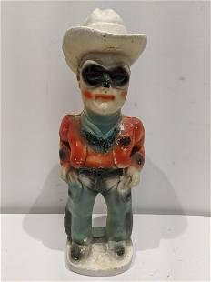 c1940's Lone Ranger Carnival Chalkware Figure