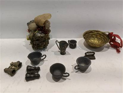 Lot 10 1920's Assorted Dollhouse Miniatures