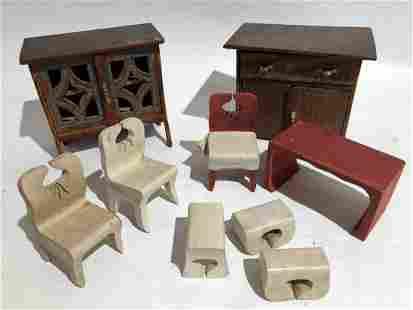Vintage Assorted Dollhouse Miniature Furniture