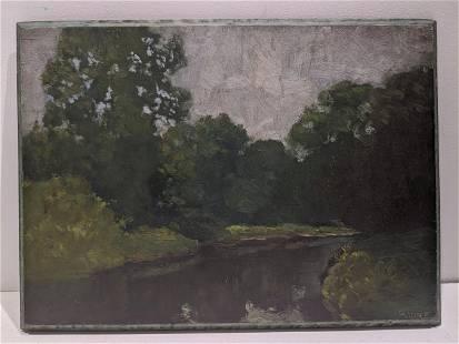 Wilson Irvine Landscape Oil Painting on Board