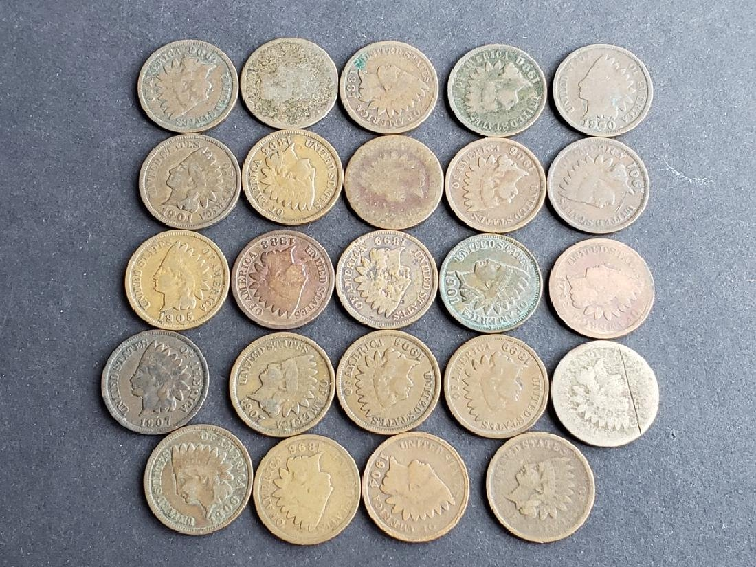 24 Indian Head Cents