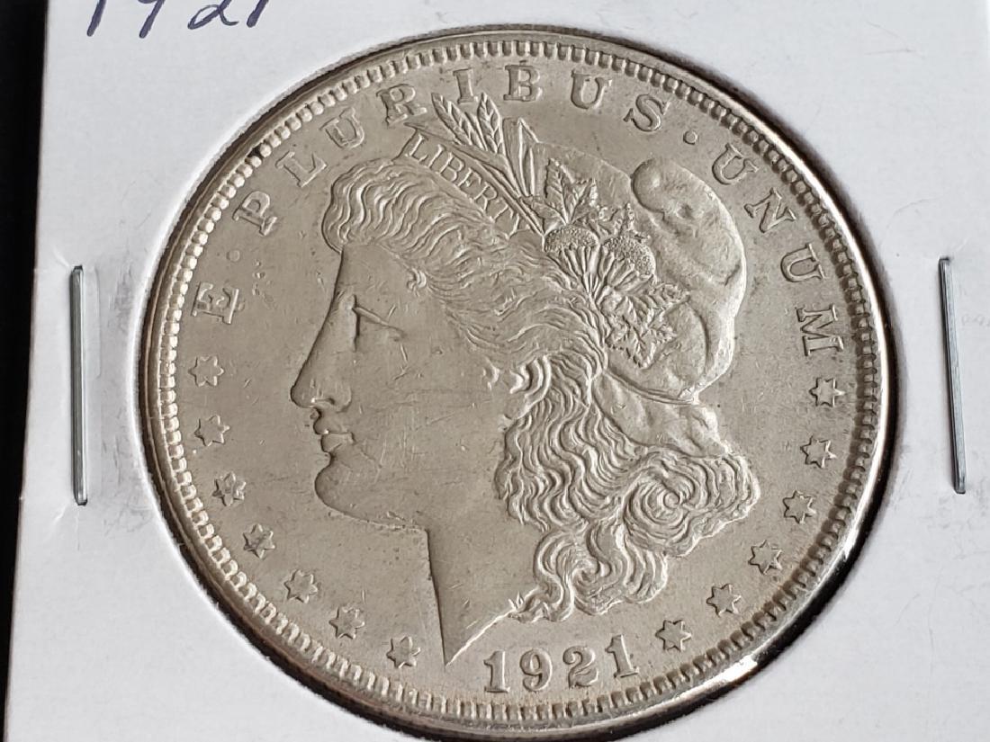 1921 Morgan Silver Dollar - 2