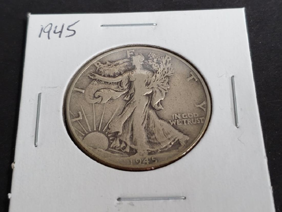 1945 Walking Liberty Half Dollar