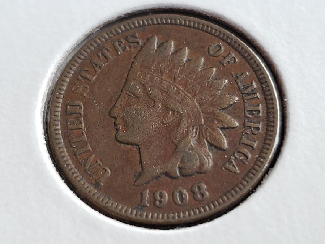 1908 Indian Head Cent - 2