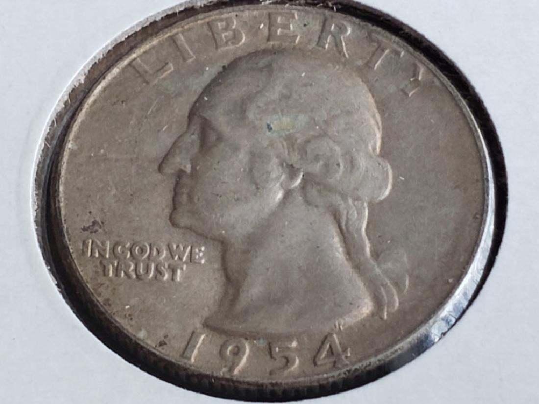 1954 S Washington Quarter - 2