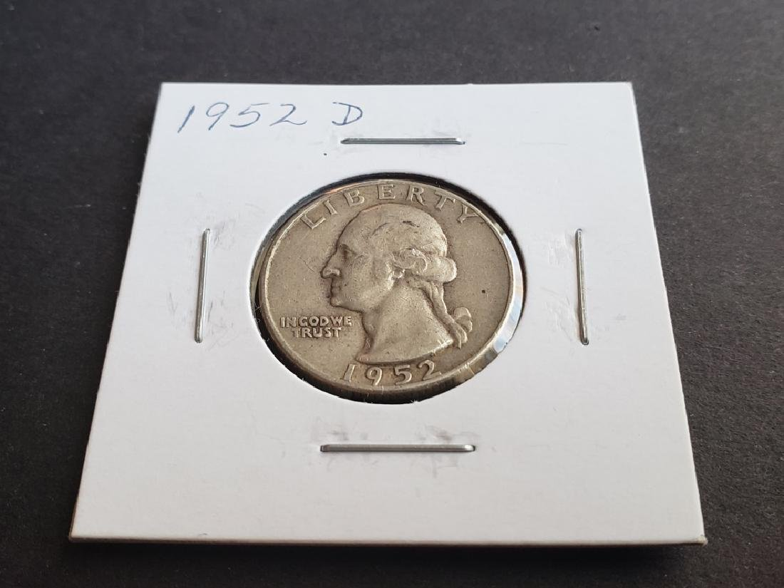 1952 D Washington Quarter