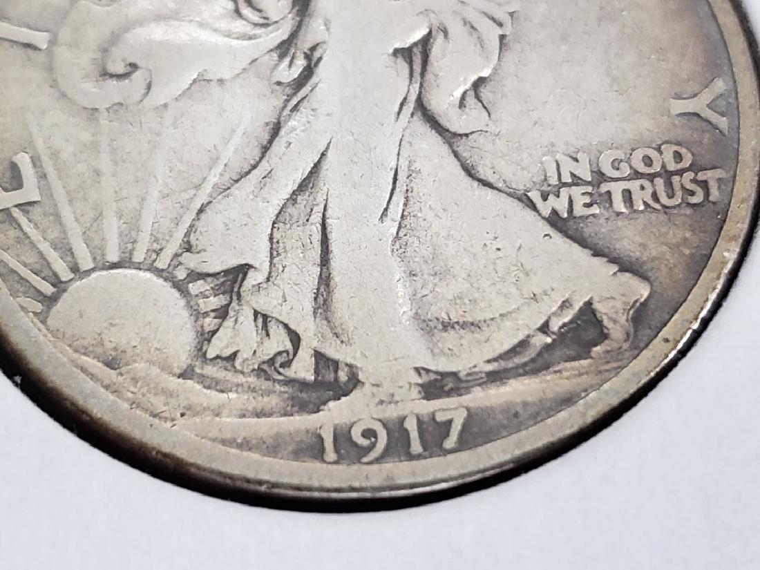 1917 Walking Liberty Half Dollar - 6