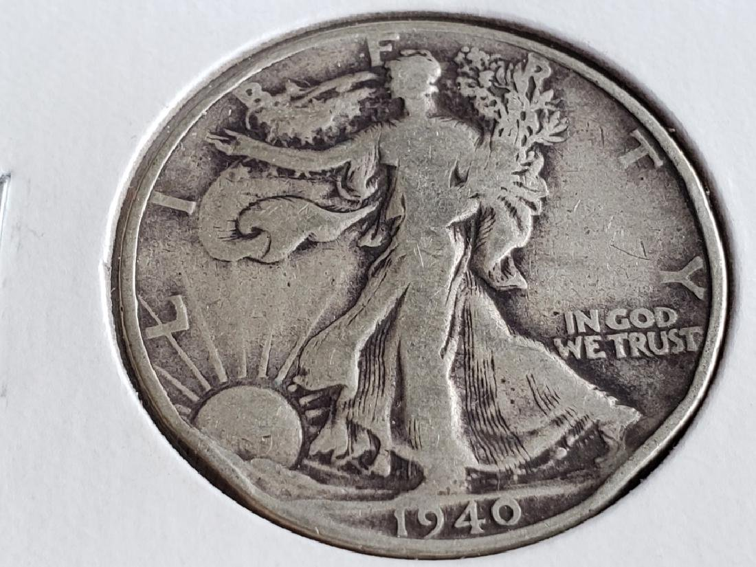 1940 Walking Liberty Half Dollar - 2