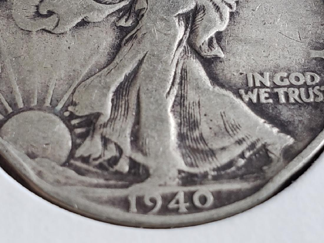 1940 Walking Liberty Half Dollar - 5