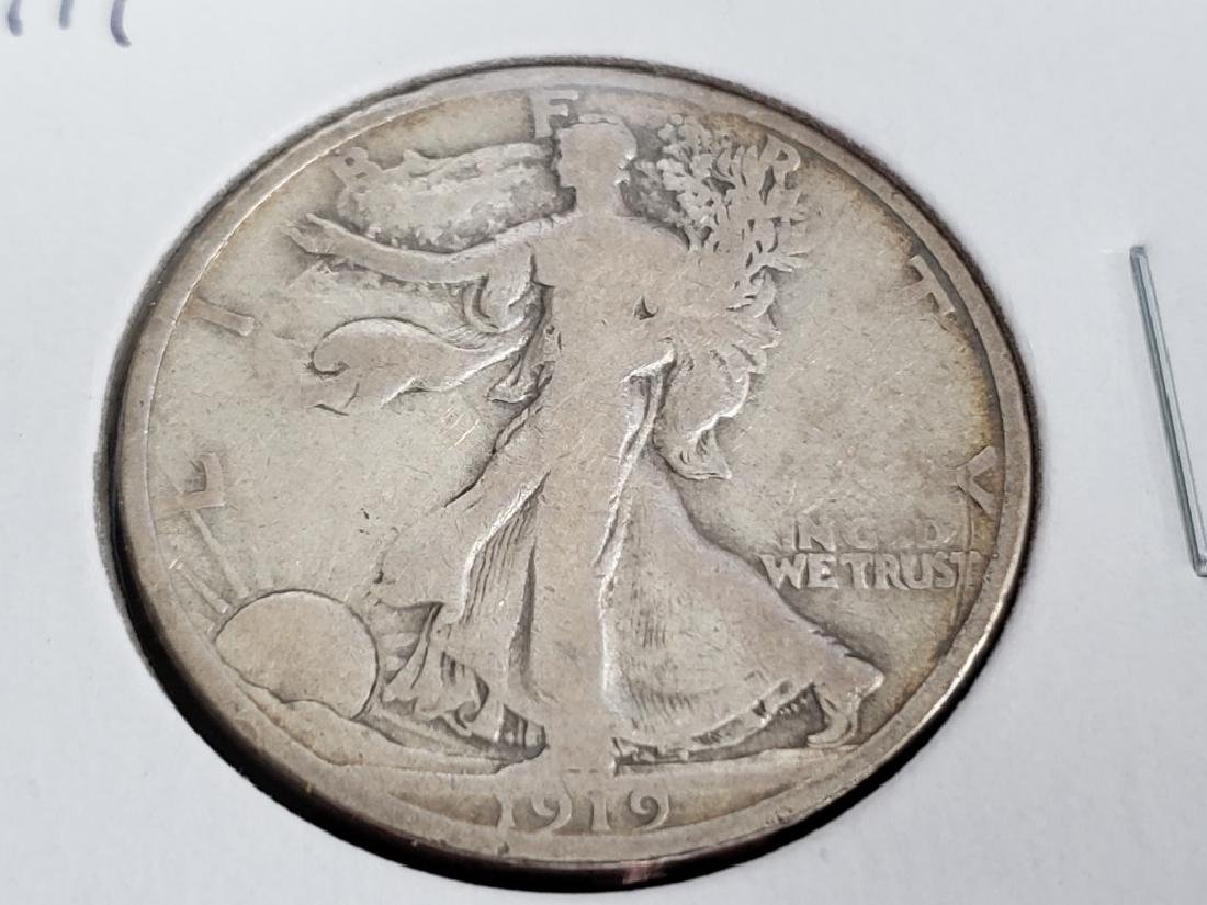1919 Walking Liberty Half Dollar - 2