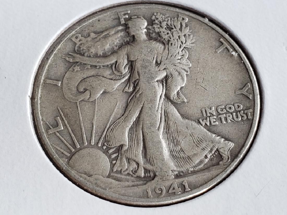1941 Walking Liberty Half Dollar - 2