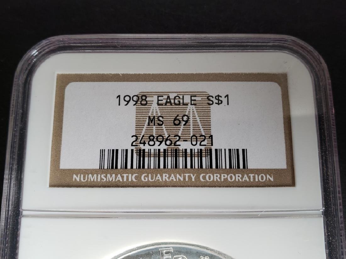 1998 American Silver Eagle NGC MS69 - 2