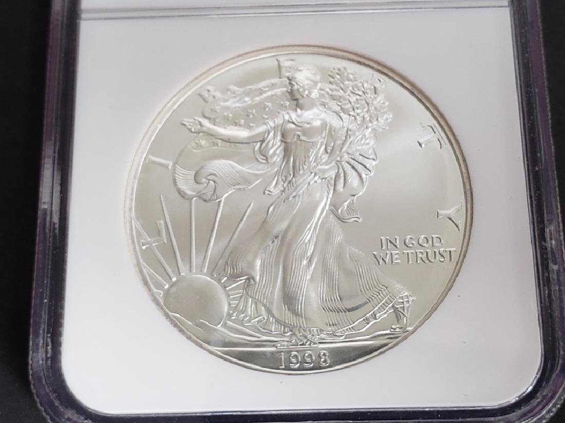 1998 American Silver Eagle NGC MS69 - 3