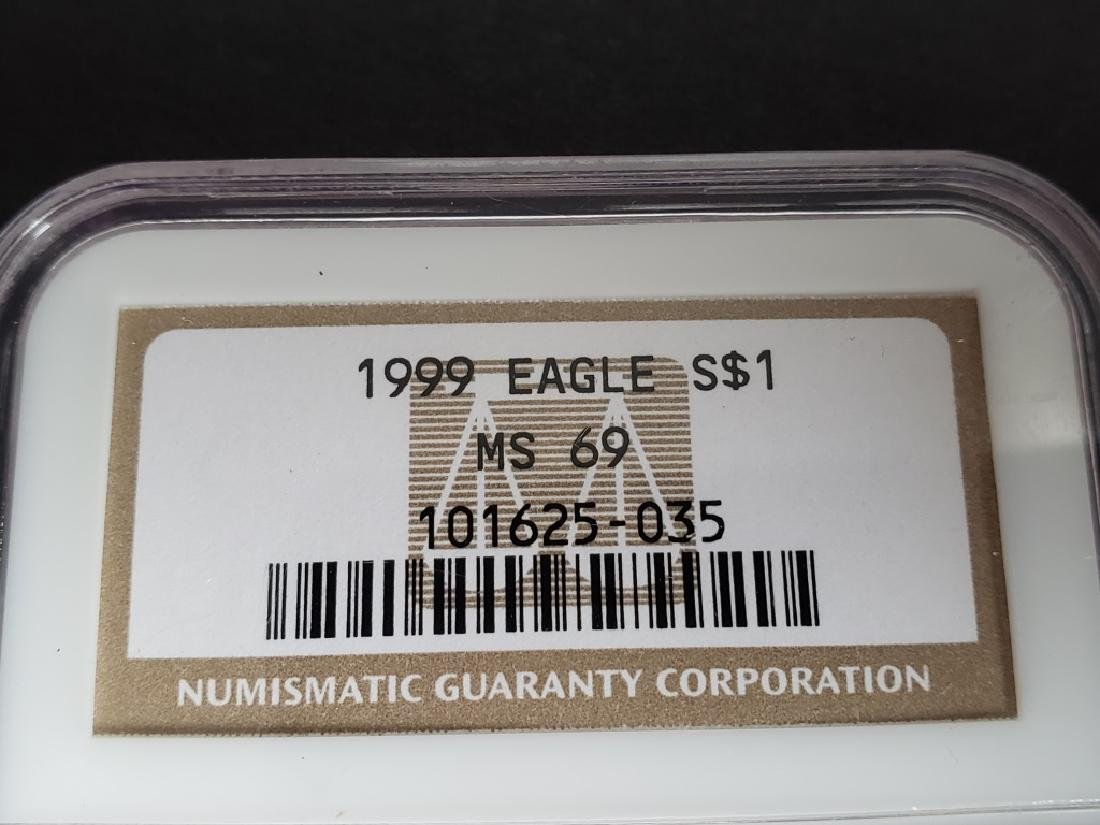 1999 American Silver Eagle NGC MS69 - 2