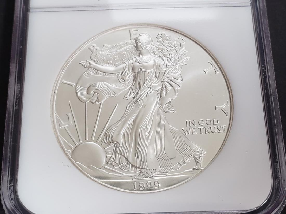1999 American Silver Eagle NGC MS69 - 3