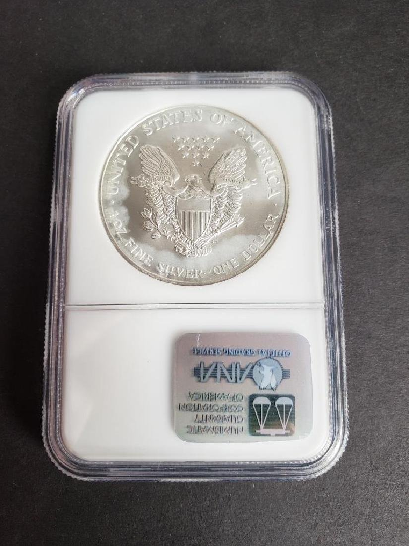 1999 American Silver Eagle NGC MS69 - 4