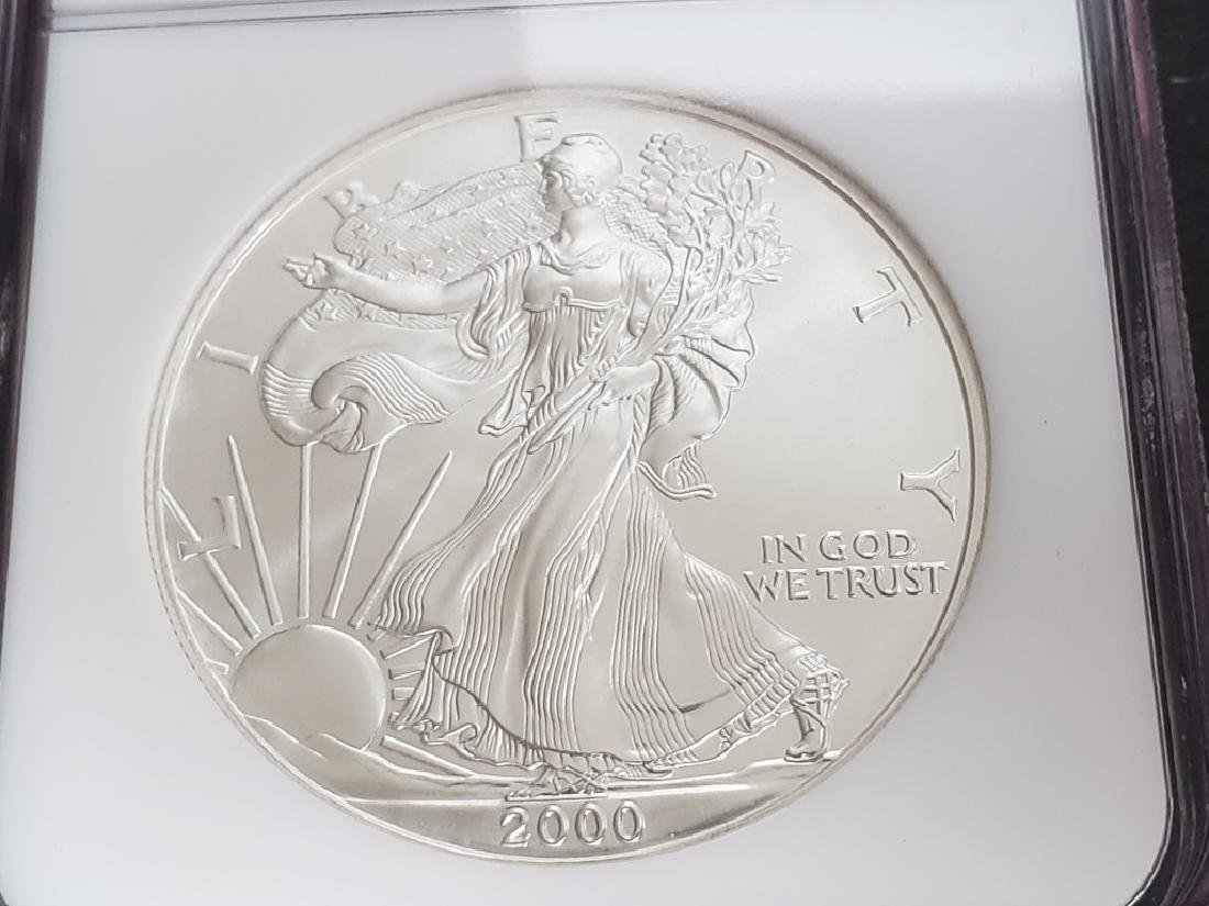 2000 American Silver Eagle NGC MS69 - 3