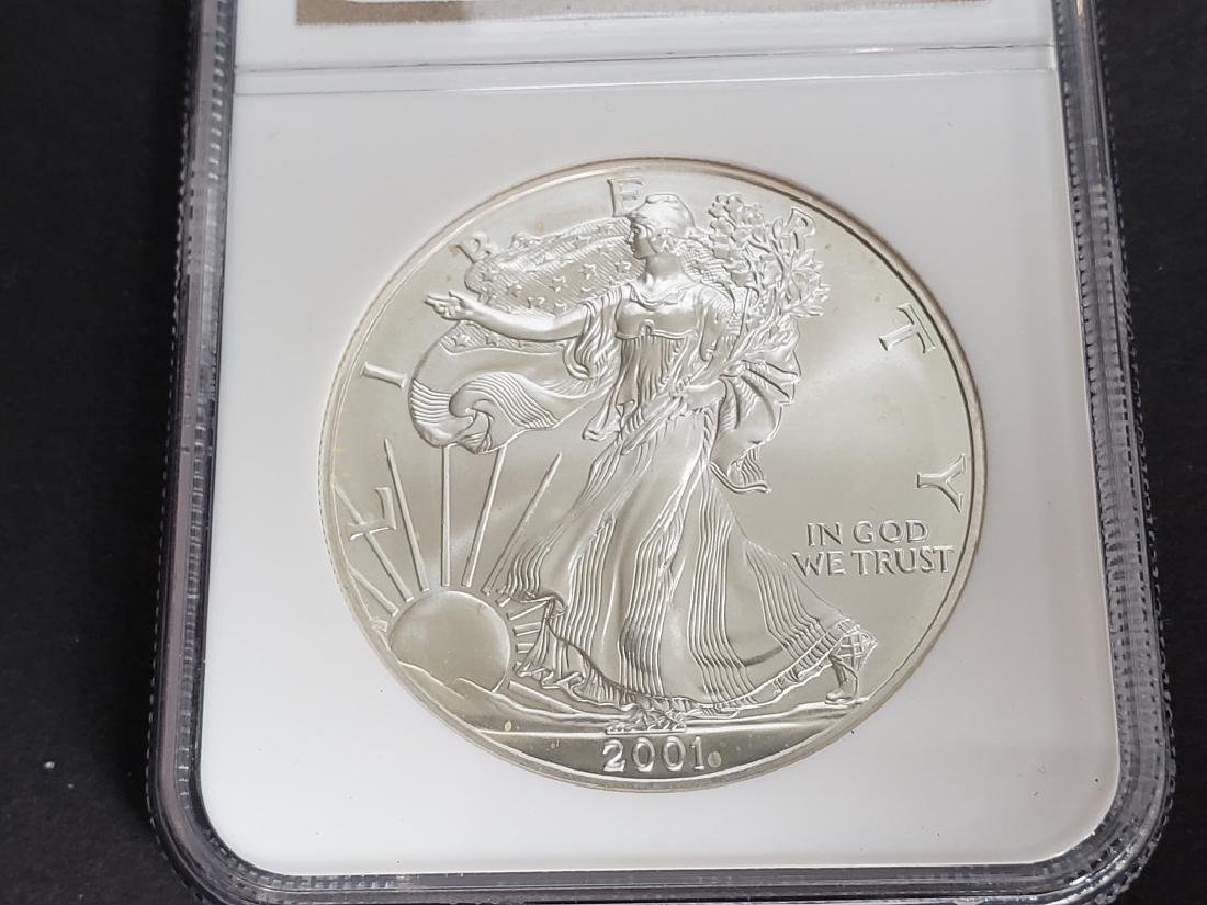 2001 American Silver Eagle NGC MS69 - 3