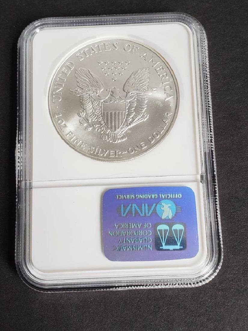 2001 American Silver Eagle NGC MS69 - 4