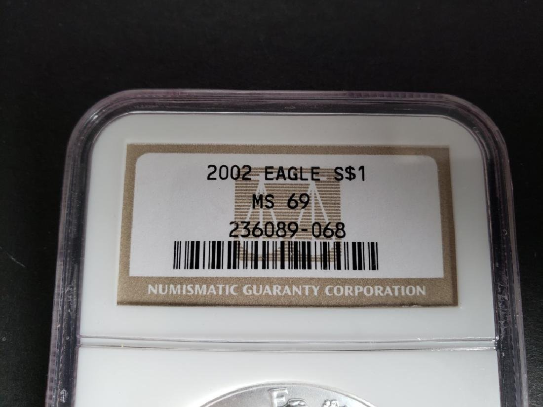 2002 American Silver Eagle NGC MS69 - 2