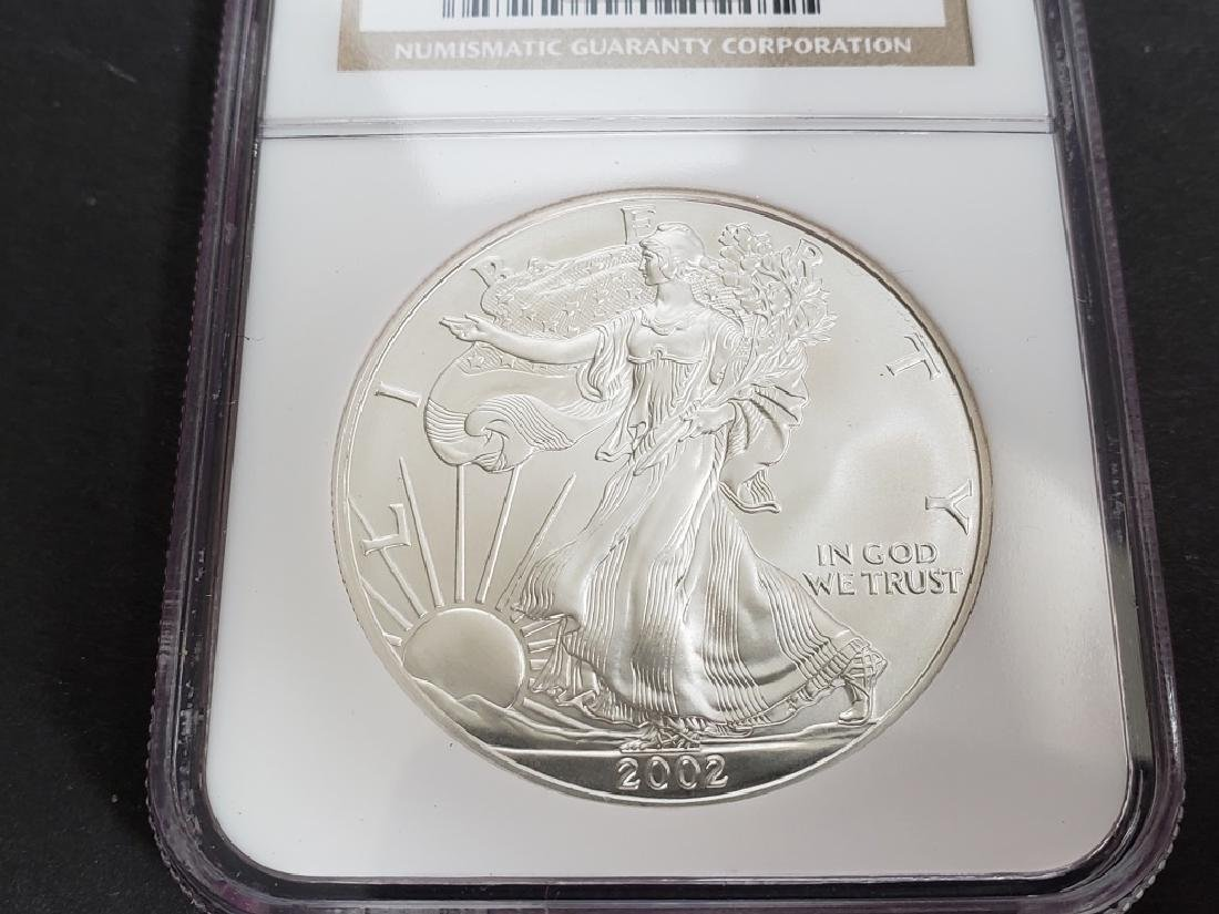 2002 American Silver Eagle NGC MS69 - 3