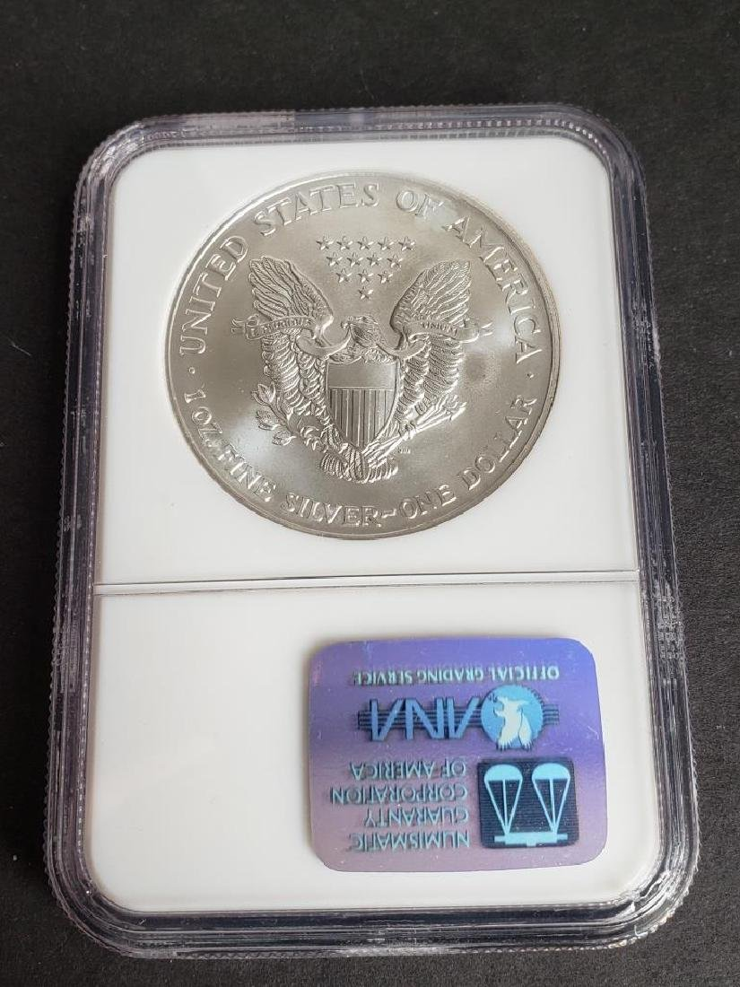2002 American Silver Eagle NGC MS69 - 4