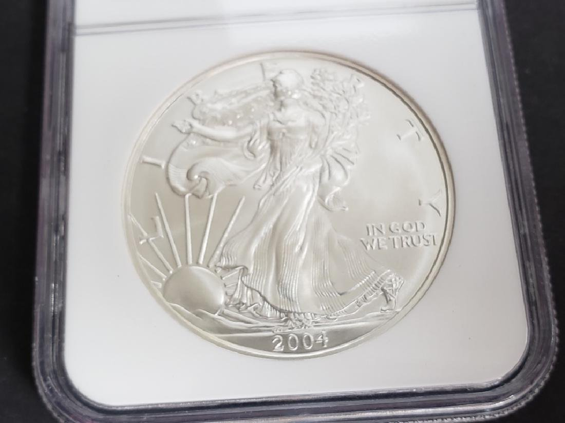2004 American Silver Eagle NGC MS69 - 3